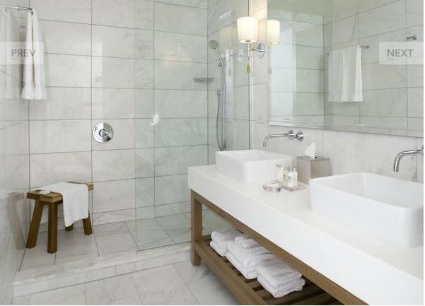 10 Idéias para Reforma de Banheiro  Vidraçaria Rocha RJ -> Decorar Banheiro Branco